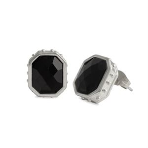Picture of Black Faceted Earrings